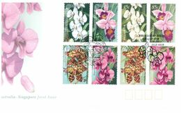 (H 17) Australia FDC Cover / Enveloppe Premier Jour (3 Covers) 1998 - Joint Issue With Singapore (Orchid) - Ersttagsbelege (FDC)