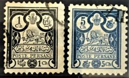 PERSIA 1891 - Canceled - Sc# 81, 83 - 1ch 5ch - Iran