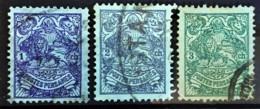 PERSIA 1907/09 - Canceled - Sc# 428, 429, 430 - Iran
