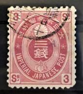 JAPAN 1892 - Canceled - Sc# 76 - 3s - Japan