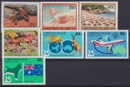 F-EX18532 CHRISTMAS IS MNH 1983-84 ENDEMICS FAUNA CRAB CANGREJOS 25 ANIV AUSTRALIAN TERRITORY. - Crustaceans