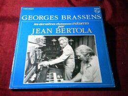 GEORGES  BRASSENS °°LES DERNIERES CHANSONS INEDITES PAR  JEAN  BERTOLA - Vinyl-Schallplatten