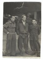 CLB234 - FOTO MILITARE SOLDATI WAR COLONIALE DIVISA 1930 CIRCA NON IDENTIFICATA CM 11,5 X 7,8 FOTO DI GRUPPO - War, Military