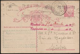 Portugal Inteiro Postal Stationery - Carimbo Publicitário Livraria Papelaria Tabacaria Silvino - Portalegre - Publicity - Postal Stationery