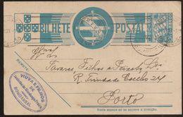 Portugal Inteiro Postal Stationery - Carimbo Publicitário Viuva E Filhos De Jacintho Freire - Bombarral - Publicity - Postal Stationery