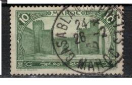 MAROC      N°  YVERT :   102    ( 10 )     OBLITERE       (OB 8/16 ) - Marocco (1891-1956)