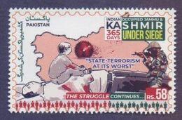 PAKISTAN 2020 - Indian Occupied JAMMU & KASHMIR Under Siege 365 Days, Map, 1v MNH - Pakistan