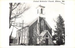 Maryland Elkton United Methodist Church Real Photo - Etats-Unis