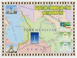 2014 Railway Turkmenistan Kazakhstan Iran Locomotive 1 List 3 Stamp RARE - Turkmenistan