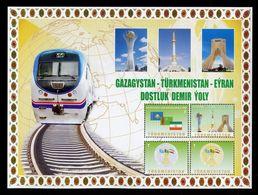 2014 Railway Turkmenistan Kazakhstan Iran Locomotive 1 List 4 Stamps RARE - Turkmenistan