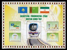 2014 Railway Turkmenistan Kazakhstan Iran Locomotive 1 List 5 Stamps RARE - Turkmenistan