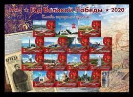 Ukraine (Donetsk) 2020 #206/18 (Bl.37) World War II. 75th Anniversary Of The Victory. Hero Cities. Stalin MNH ** - Ukraine