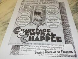 ANCIENNE PUBLICITE 4 RAISON POUR CHOISIR RADIATEUR CHAPPEE 1928 - Autres