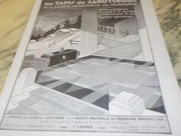 ANCIENNE PUBLICITE TAPIS EN CAOUTCHOUC 1930 - Autres