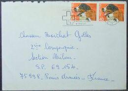 Switzerland - Cover To France 1984 Dog - Schweiz