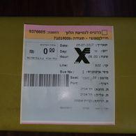 Israel-tel-aviv-kiryat-shemone-(0.00)-(invitation-9376605)-9/7/2017-used - Bus