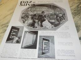 ANCIENNE PUBLICITE ENSEIGNES LUMINEUSE PAZ ET SILVA  1930 - Autres