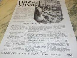 ANCIENNE PUBLICITE LES ETRENNES  PAZ ET SILVA  1930 - Autres