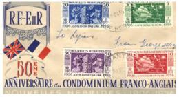 (H 19) Condominium Of New Hebridies - Nouvelle Hebrides - (now Vanuatu) - 1959 FDC Cover - Vanuatu (1980-...)