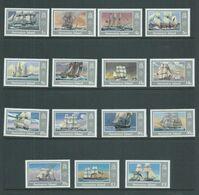 Ascension 1986 Ship Definitive Set Of 15 MLH , 2 Pound Is MNH - Ascension
