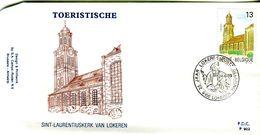 14189049 BE 19890624 Lokeren; Tourisme, église St-Laurent  Lokeren; FDC Cob2331 - FDC
