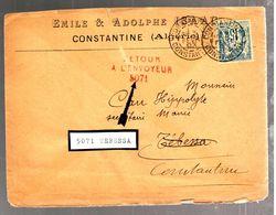 35447 - Retour De TEBESSA - Briefe U. Dokumente