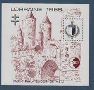 CNEP-1988-N°9** LORRAINE.Salon Philathélique De METZ - CNEP