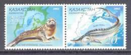 2002. Kazakhstan, Seal, Beluga, 2v, Joint Issue With Ukraine, Mint/** - Kazajstán