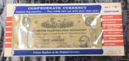 "(special) Folder With ""unique Replica Of Original Currency"" (7)- Confederates - Non Classés"