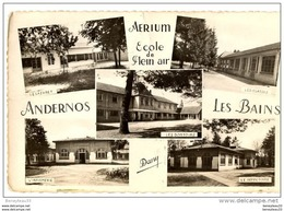 CPA ( Réf : N445) ANDERNOS-les-BAINS (33 GIRONDE) MULTI VUES Aérium, école De Plein Air - Andernos-les-Bains