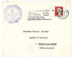 EURE ET LOIR ENV 1963 CHARTRES + CACHET GENDARMERIE GROUPEMENT EURE ET LOIR - Marcofilia (sobres)