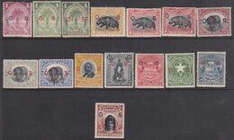 Liberia 1898-1905 Ovpt Official Sc O28-42 Mint Hinged - Liberia