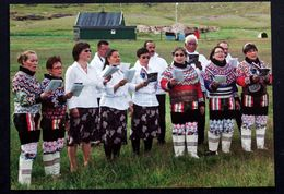 Greenland  Cards, Choir Singing At Igaliku   South Greenland   ( Lot 270 ) - Groenlandia