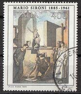 """Italia 1985 Uf. 1734 """"Civiltà Del Lavoro"""" - Quadro Dipinto Da M. Sironi -  Paintings Used Arte Contemporanea - Madonnas"""