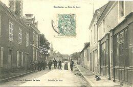 72 SARTHE LA SUZE RUE PONT ANIMATION 1905 JOLI PLAN A VOIR - La Suze Sur Sarthe