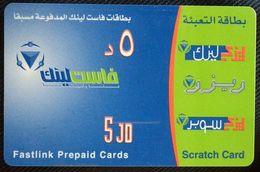 Jordan - Fastlink Prepaid Cards 5 JD - Jordania
