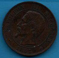 FRANCE 10 CENTIMES 1853 BB NAPOLÉON III TÊTE NUE F.133/4 - France