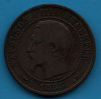 FRANCE 10 CENTIMES 1853 W NAPOLÉON III TÊTE NUE F.133/9 - France
