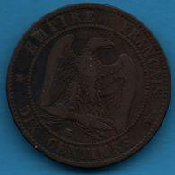 FRANCE 10 CENTIMES 1854 K NAPOLÉON III TÊTE NUE F.133/15 - France