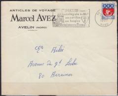 """Enveloppe De 1967 Avec Entete PUB """" ARTICLES De VOYAGE """" à 59 AVELIN Nord  Pour 80 AIRAINES - Advertising"""