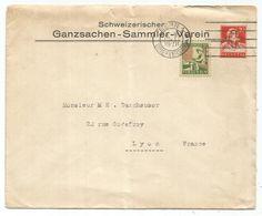 HELVETIA ENTIER 20C ENVELOPPE COVER REPIQUAGE SCHWEIZ GANZSACHZEN SAMMLER VEREIN + 10C PRO JUVENTUTE BERN 1928 - Interi Postali