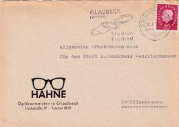 Germany 1988 Cover;  Football Fussball Soccer Calcio: Gladbeck Westfalen Stadion Freibad Slogan Cancellation - Altri
