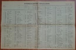 LISTE Des STÉRÉOCARTES - Vues En  RELIEF Et En COULEUR Pour Boitier Lumineux Stéréoscopique - 1963 - Other Collections