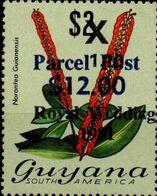 GUYANA 1983 Flowers Diana Wedding Narantea Guianensis OVPT:12,00/1.10/$2 Parcel Post - Guyana (1966-...)