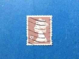 2010 GREAT BRITAIN GRAN BRETAGNA INGHILTERRA FRANCOBOLLO USATO STAMP USED ORDINARIO REGINA ELISABETTA II 5 P - Used Stamps