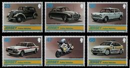Jersey 2002 - Mi-Nr. 1028-1033 ** - MNH - Polizei Autos / Police Vehicles - Jersey