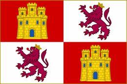 Bandera Reino De Castilla Y León. Años 1230-1516. España - Bandiere