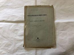ALCUNE APPLICAZIONI DEL CEMENTO ARMATO CARLO GINI TENENTE DEL GENIO 1907 - Non Classificati