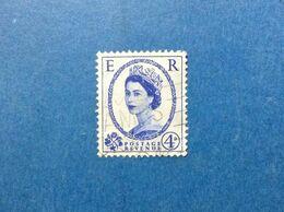 1952 GREAT BRITAIN GRAN BRETAGNA INGHILTERRA FRANCOBOLLO USATO STAMP USED ORDINARIO REGINA ELISABETTA II 4 D - 1952-.... (Elizabeth II)
