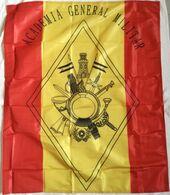 Bandera Academia General Militar De Zaragoza, De Mochila. Ejército Español. España - Bandiere